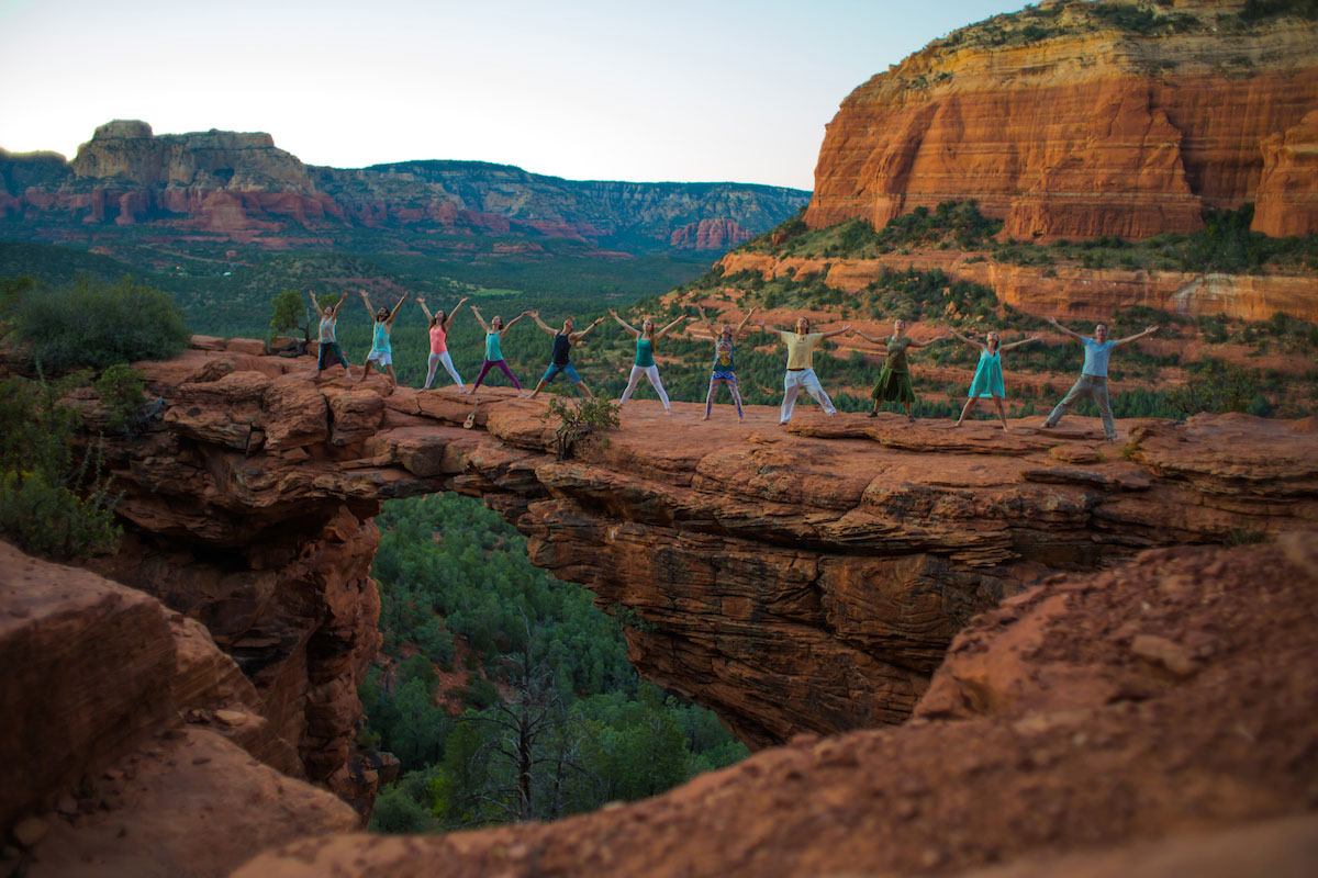 Yoga on Devil's Bridge with Aumbase Sedona