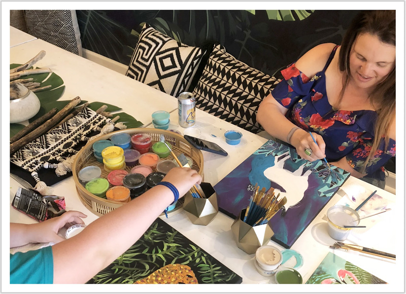 Class at Bohemian Dreamer in Sedona
